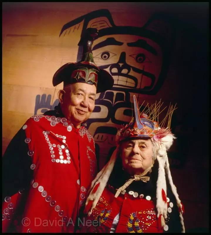 Chief Alvin & Ethel Alfred, Nimpkish Tribe