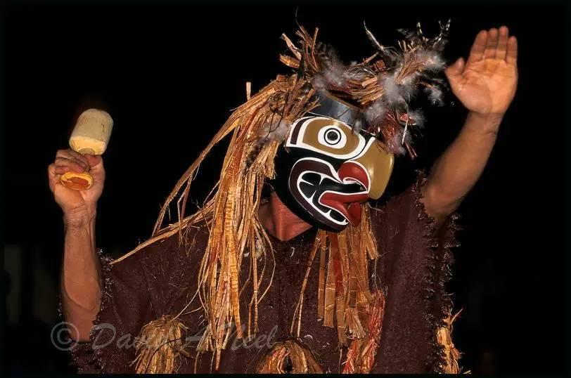 A Grouse dancer at a Kwakwak'awakw potlatch.