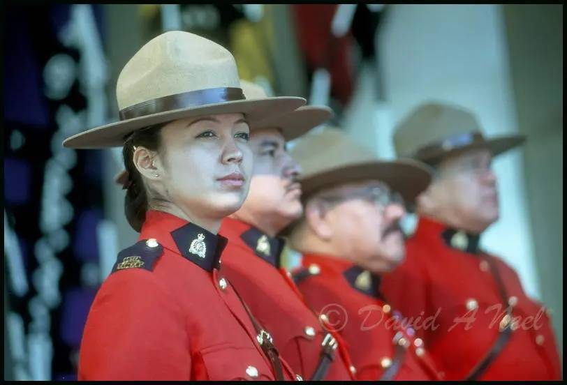 Indigenous Royal Canadian Mounted Police officers.
