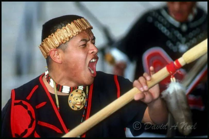 The leader of a Niss'ga dance group.