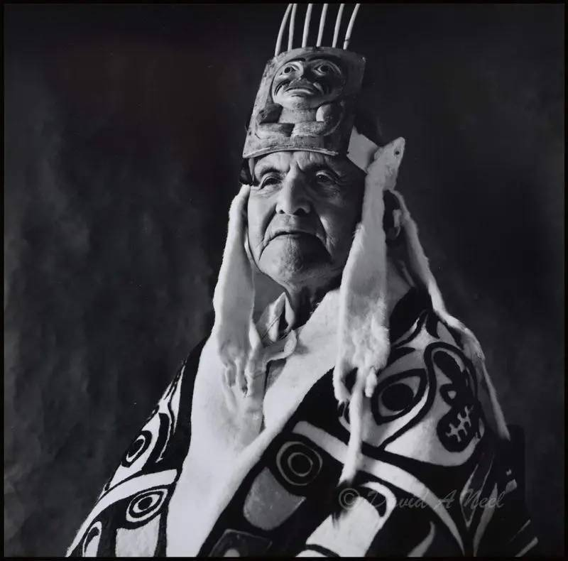 Chief Ernie Yeltatzie, Haida nation.
