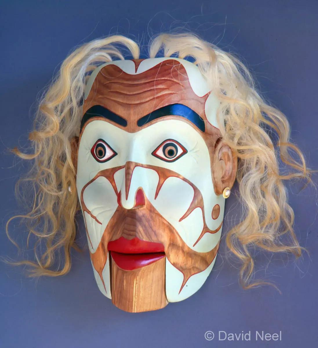 Aging Trophy Wife Portrait Mask