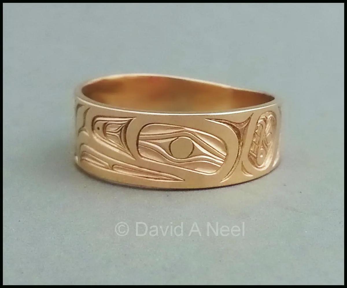 Raven Gold Ring
