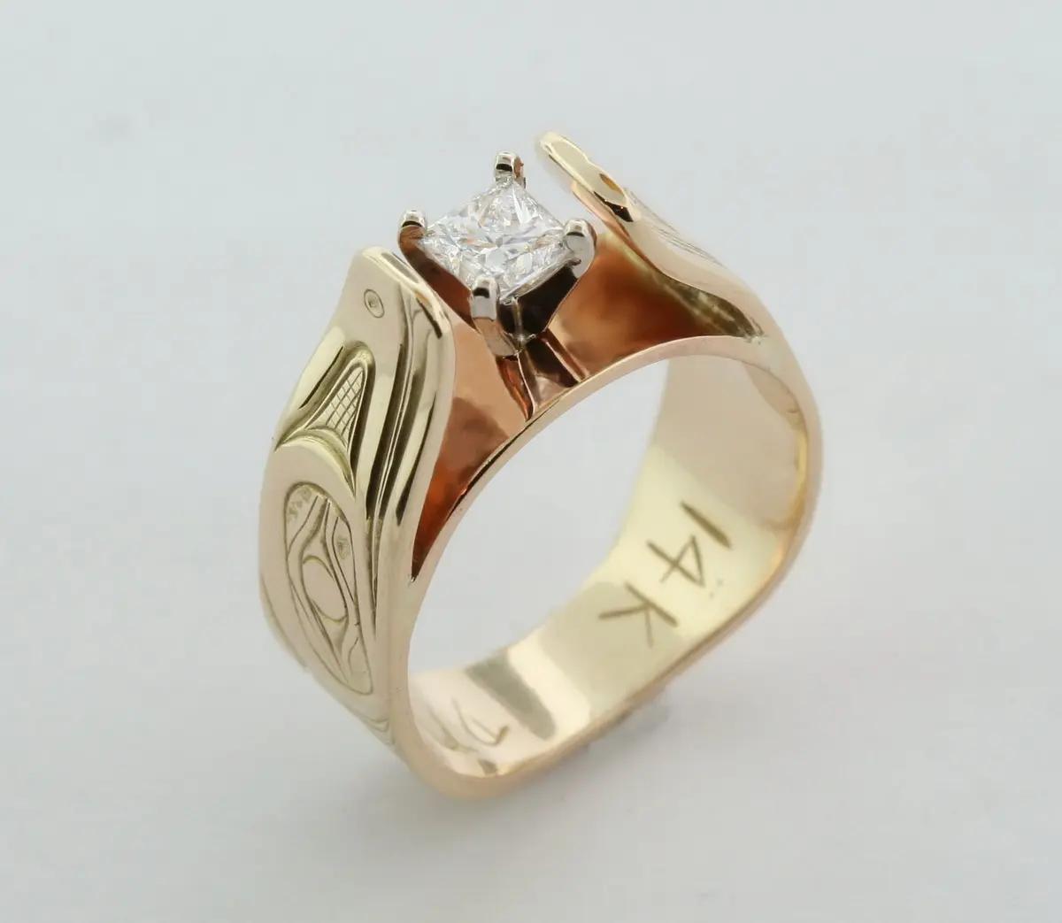 Raven Princess Diamond Ring