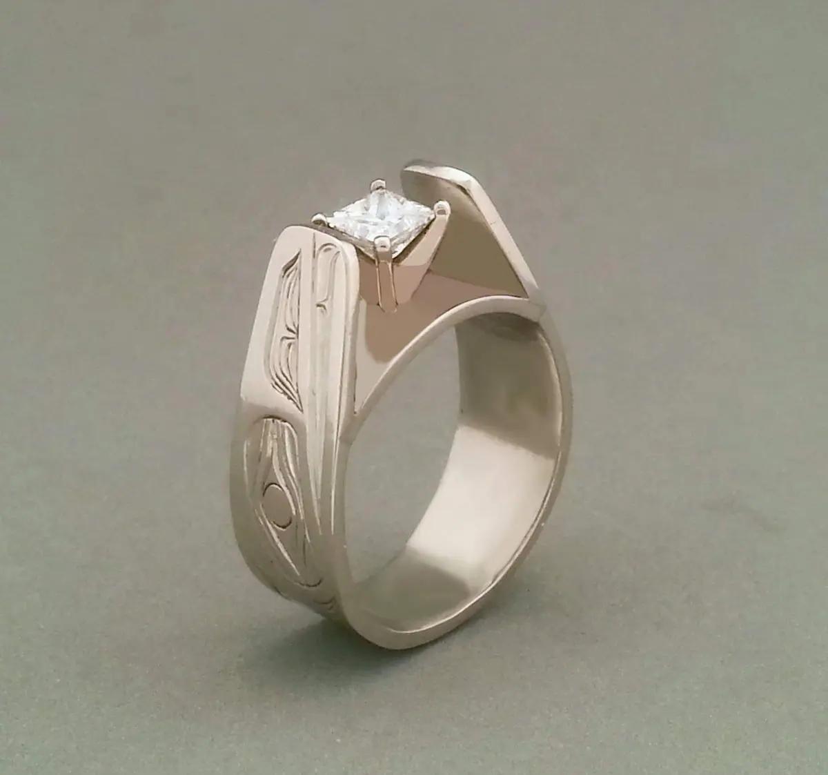 Raven Platinum & Diamond Ring