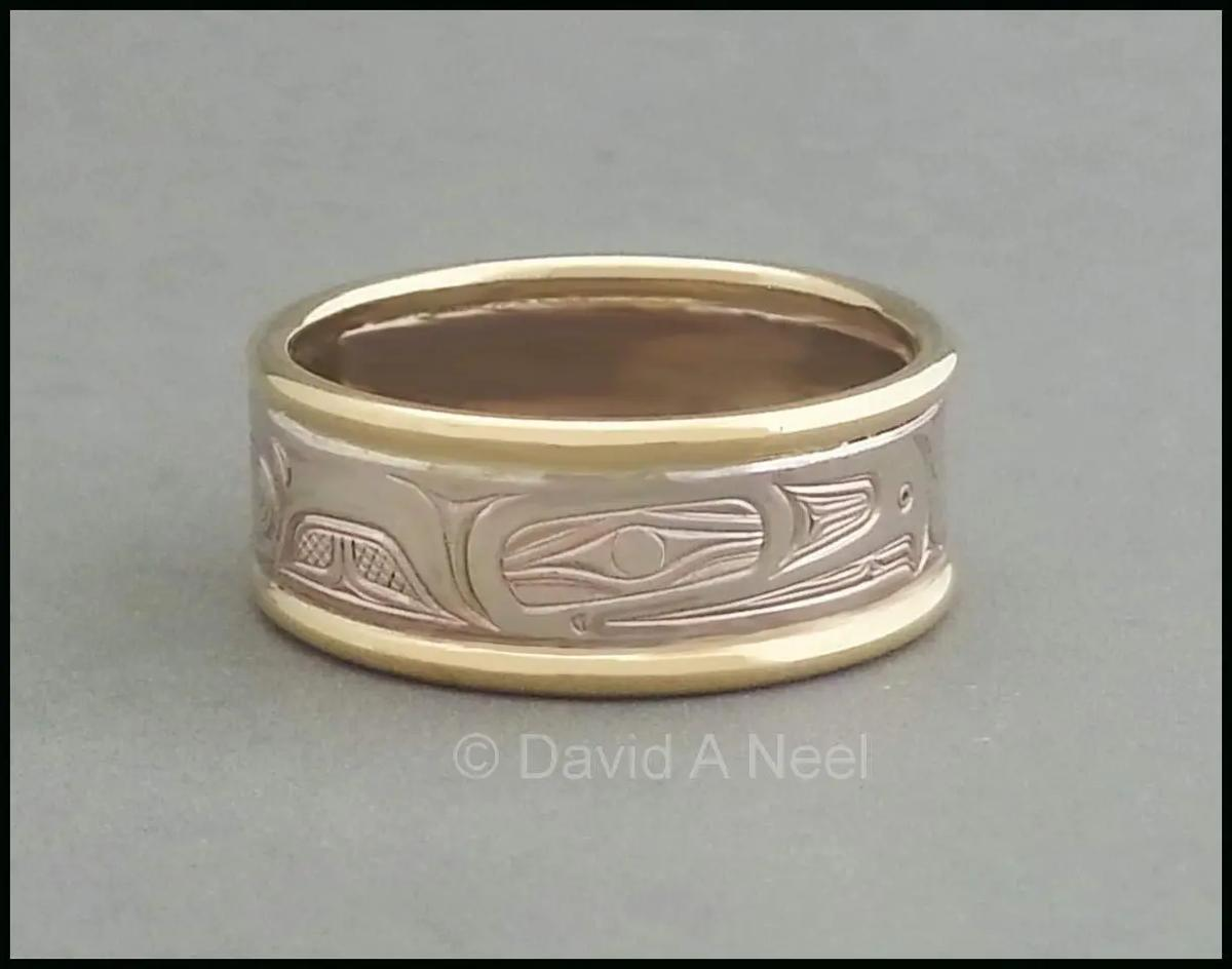 Eagle Two-Tone Gold Ring