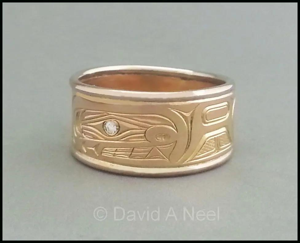 Orca Two-tone Gold Ring