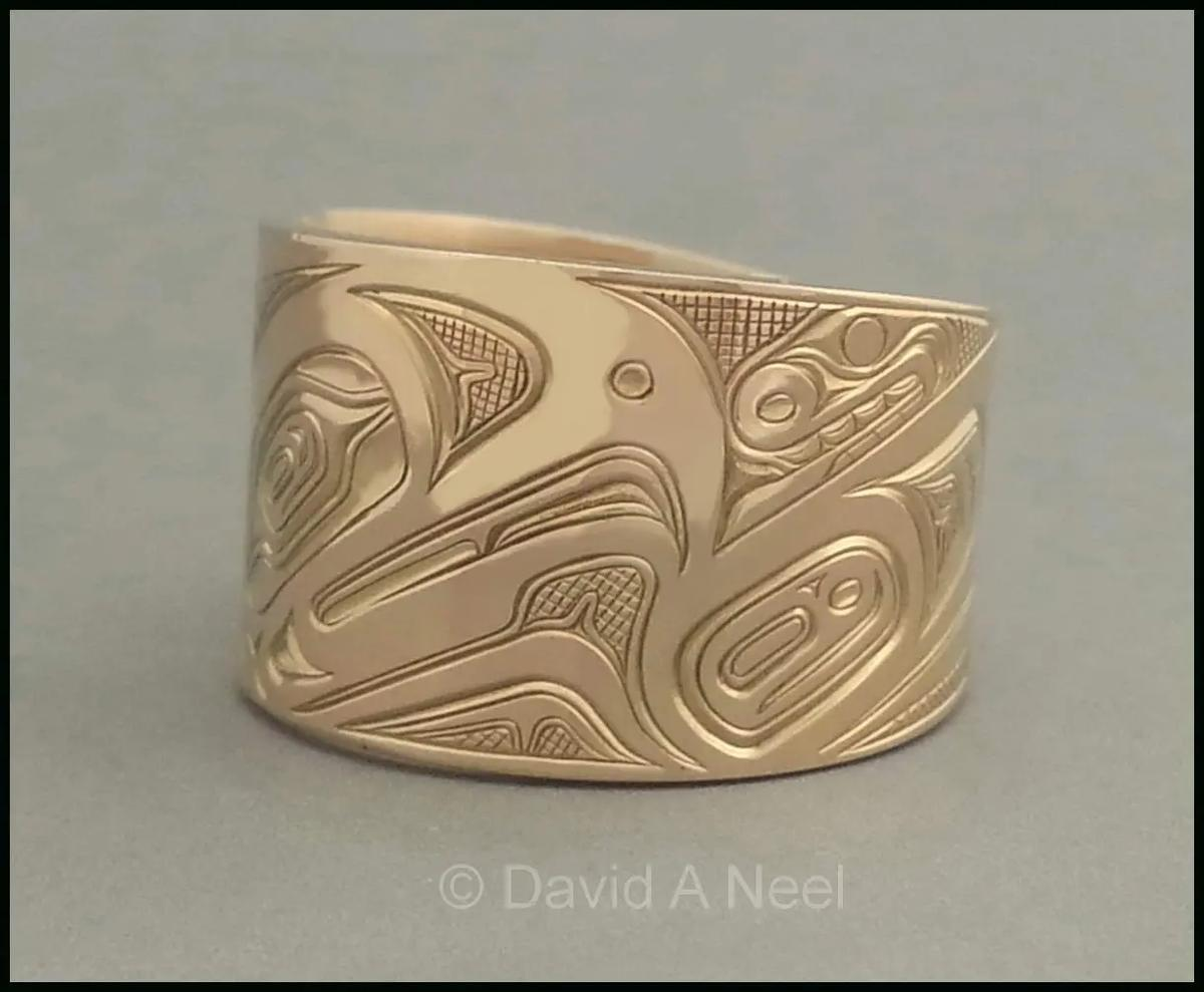"""Eagle Gold Ring - 1/2"""" Wide"""