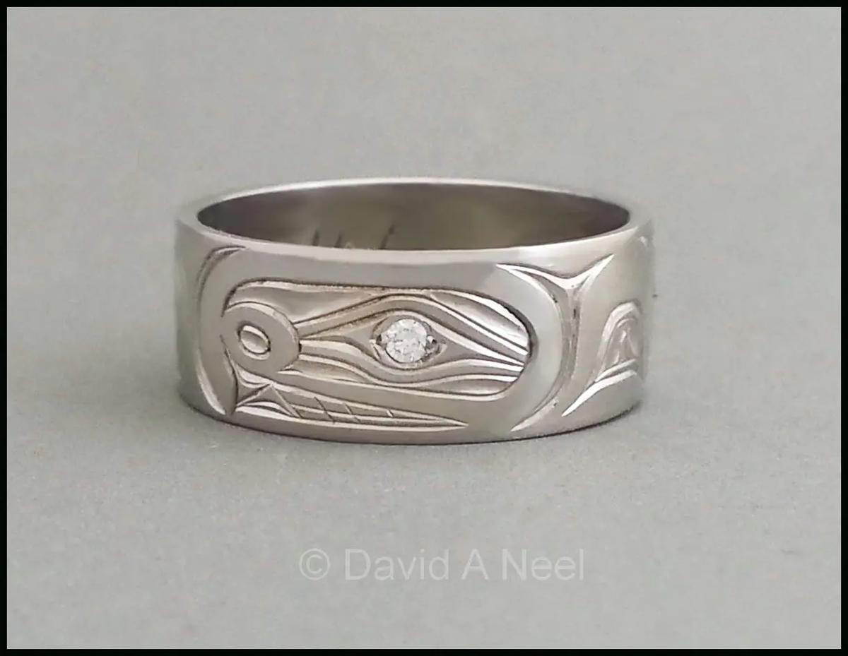 Orca Ring, White Gold, Diamond Eye