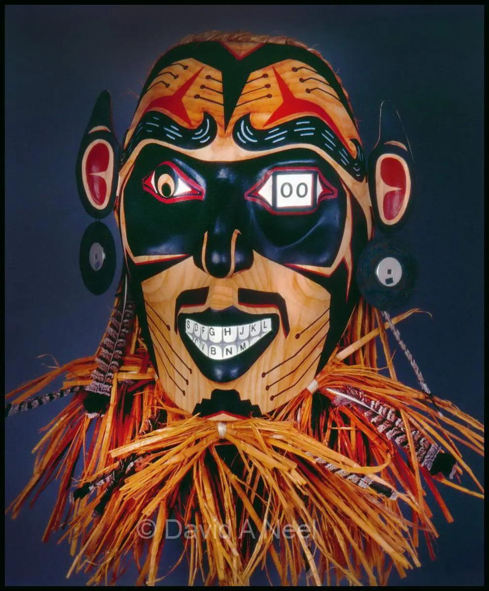 Digital Trickster Mask.