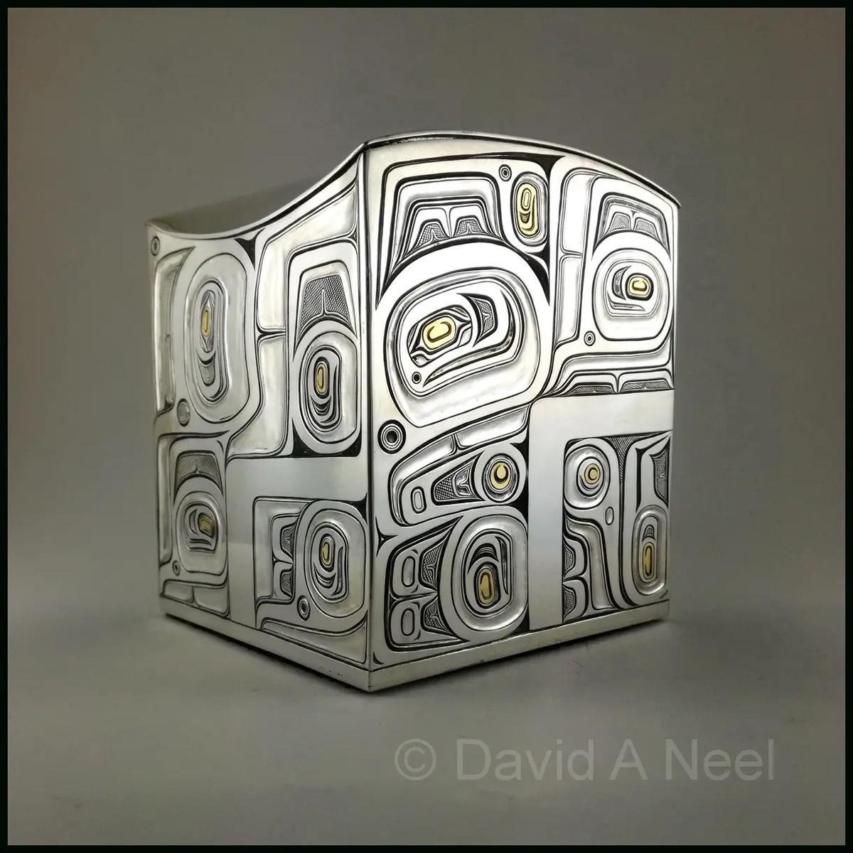 Master of the Black Field - bentwood box