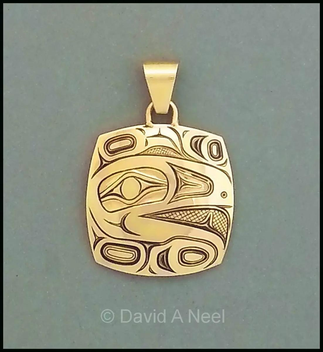 Raven Gold Pendant