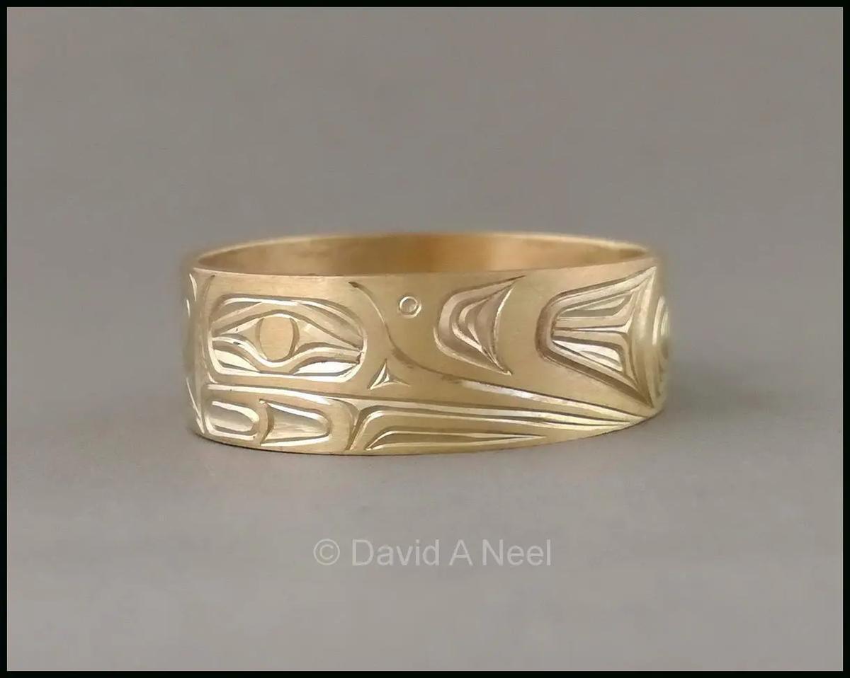Hummingbird 14K Gold Ring