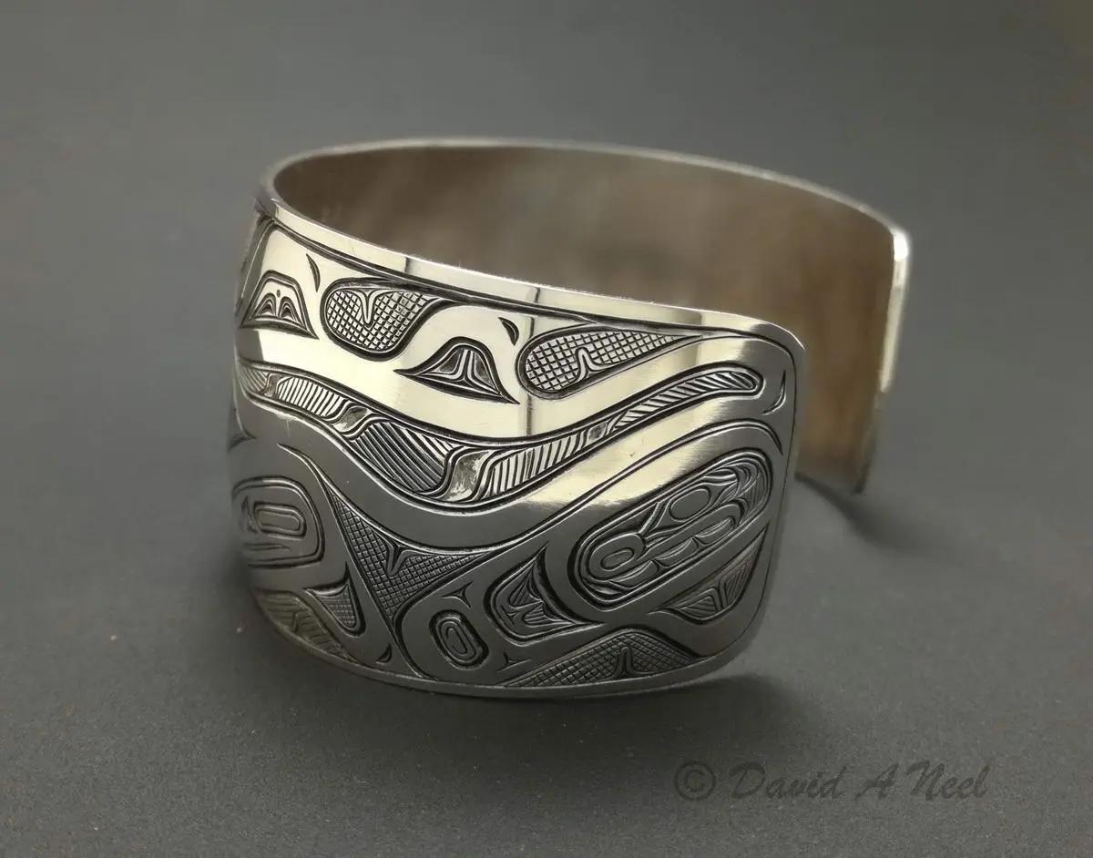 Killerwhale Silver Bracelet