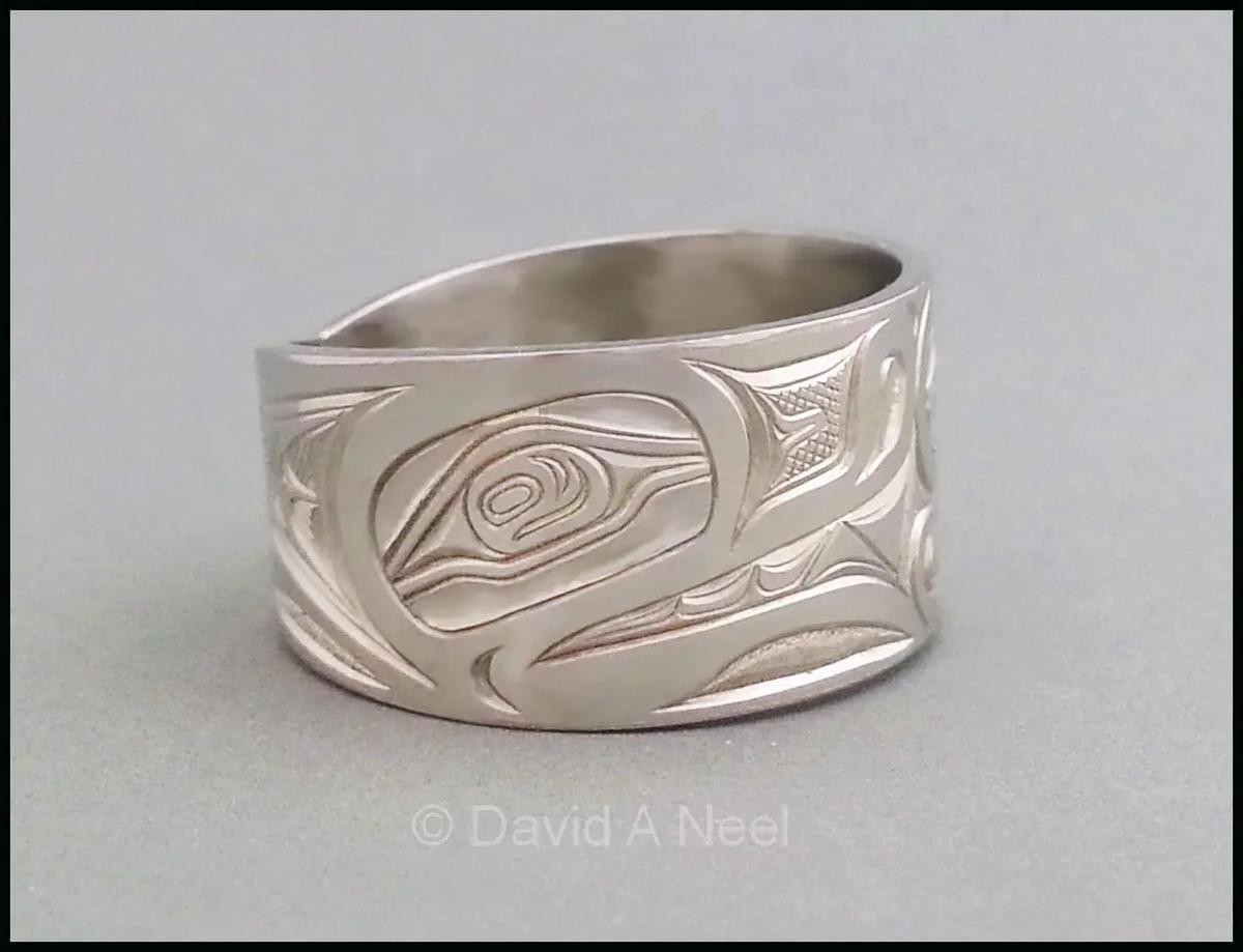 Wolf Platinum Ring