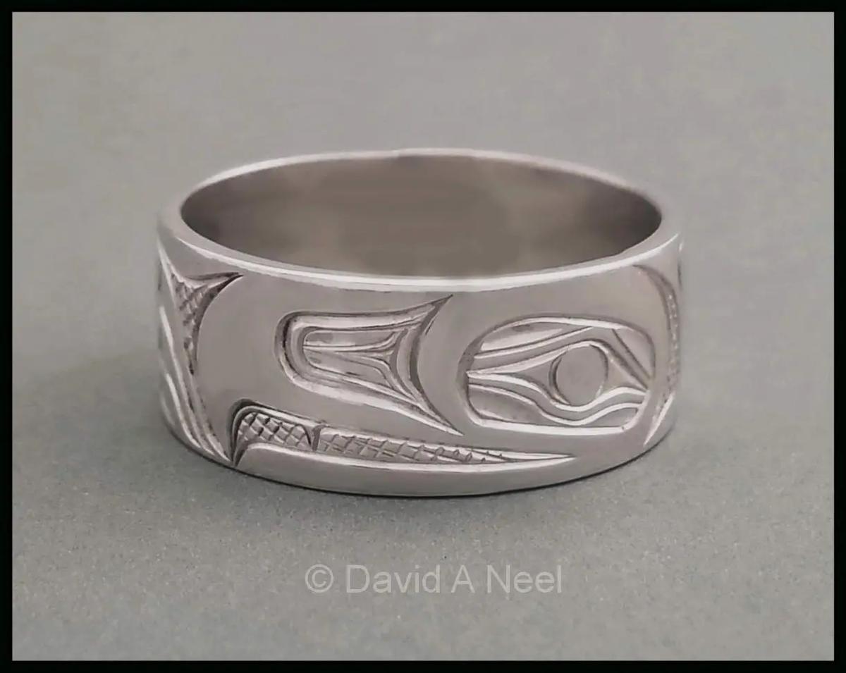 Eagle Platinum Ring