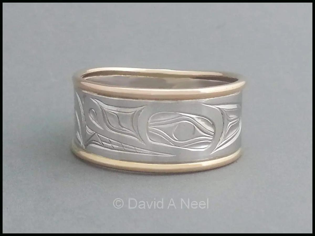 Wolf Ring, Silver & Gold
