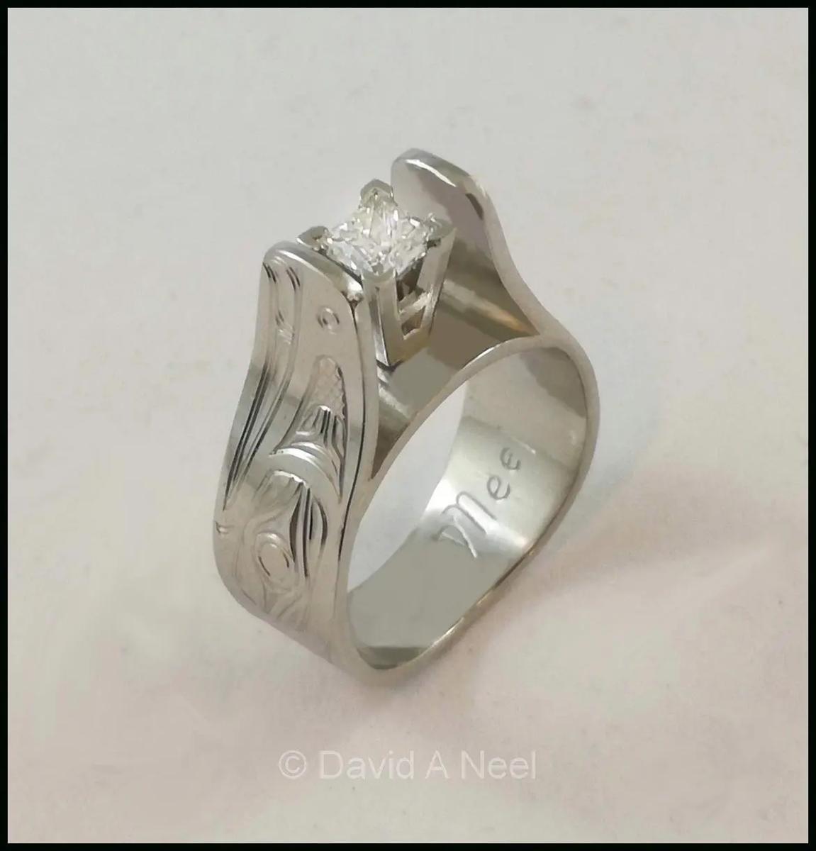 Eagle Ring, Platinum & Diamond