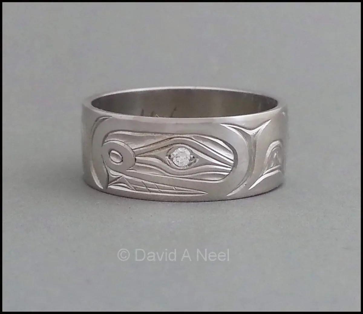 Orca Ring, Platinum, Diamond Eye