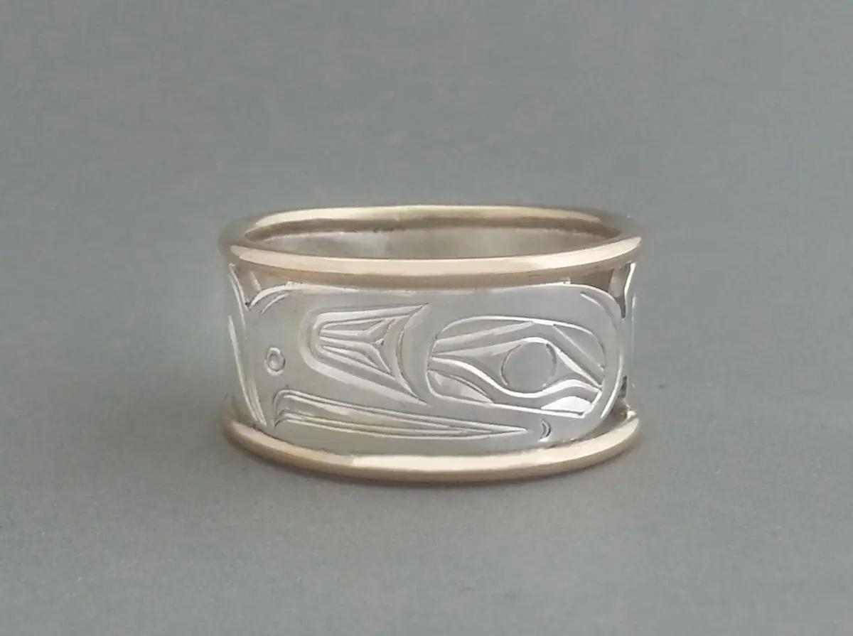Eagle Ring, Silver & Gold