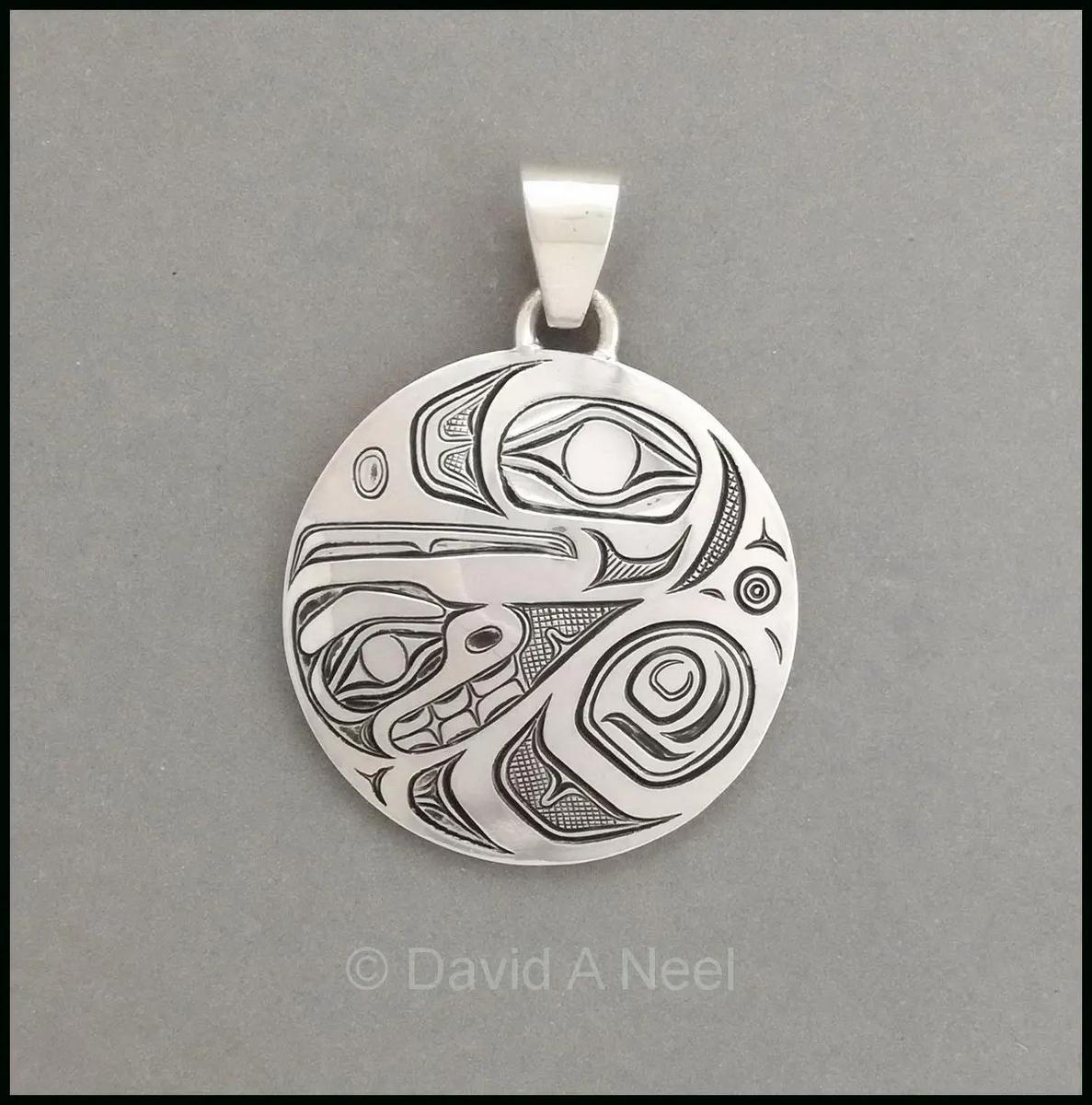 Raven Silver Pendant