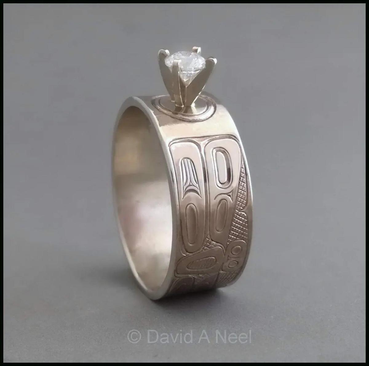 Dragonfly Ring, Gold & Diamond