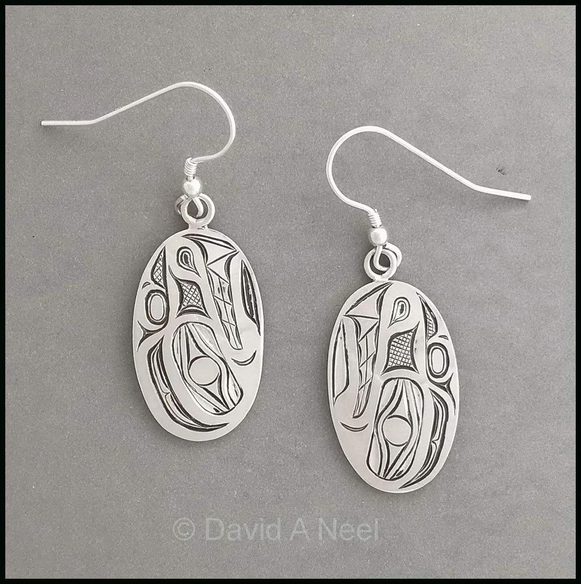 Wolf Silver Earrings