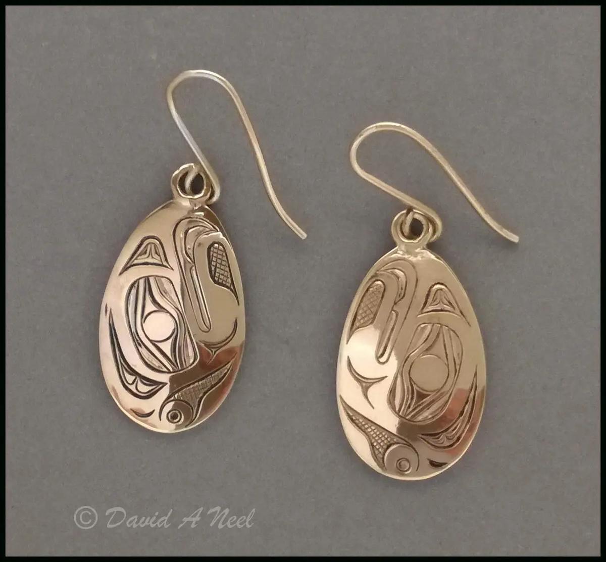 Thunderbird Gold Earrings