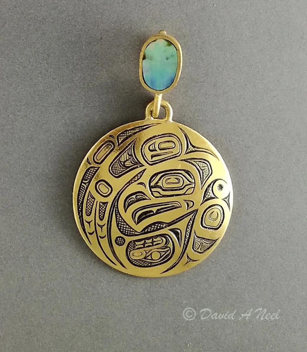 Thunderbird Gold Pendant
