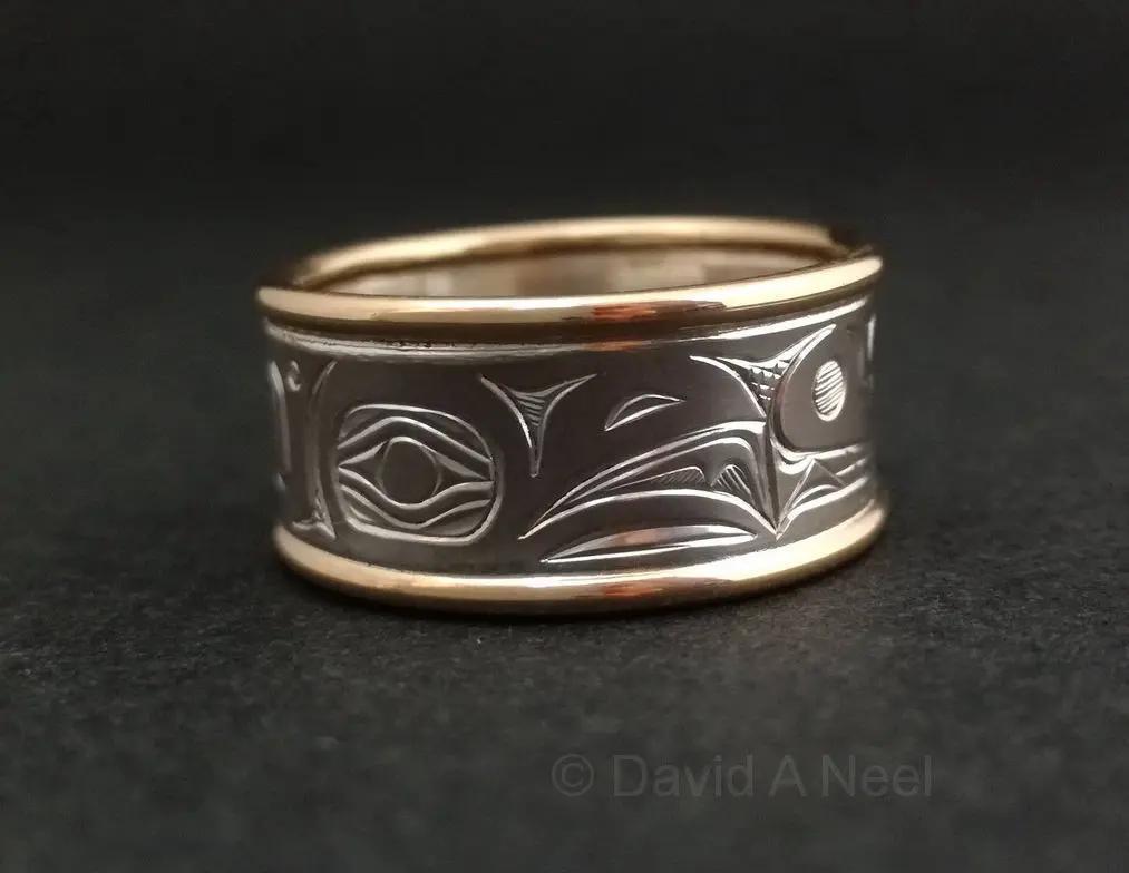 Raven White & Yellow Gold Ring