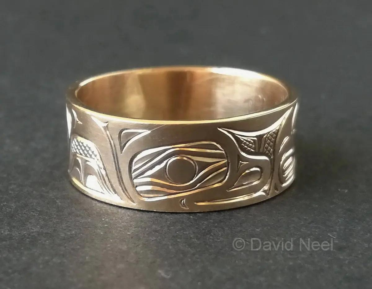 Otter Gold Ring