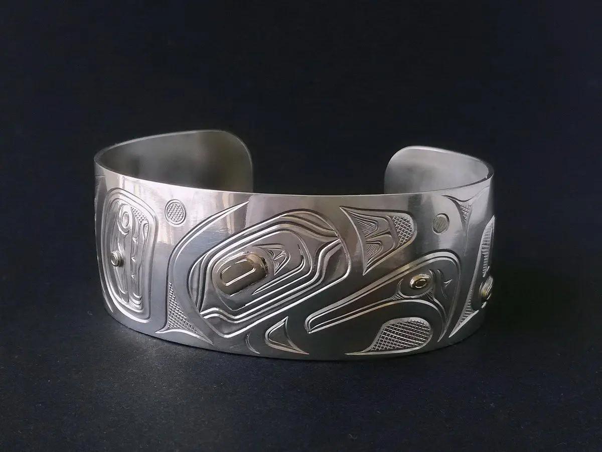 Eagle Silver & Gold Bracelet