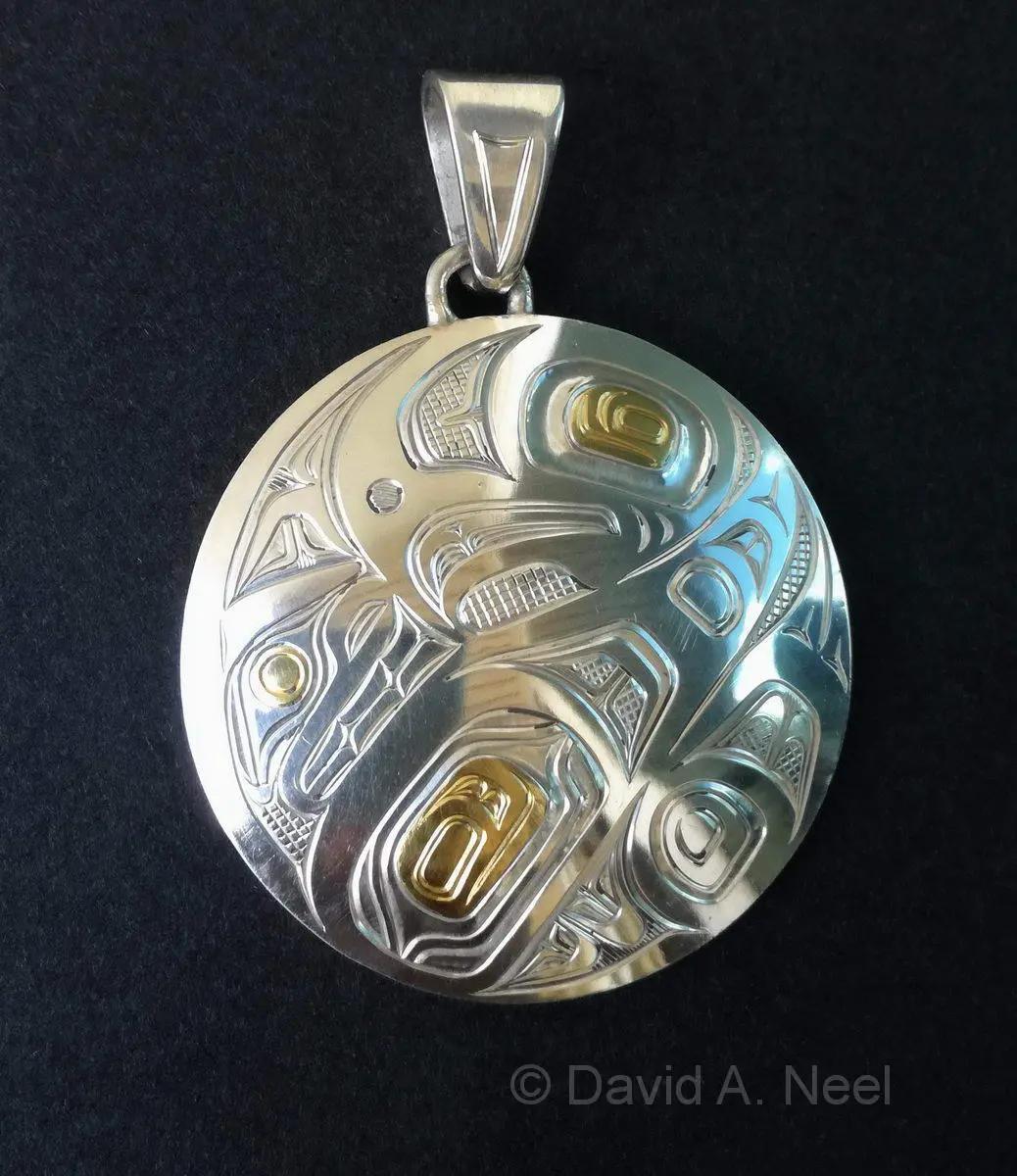 Eagle Silver & Gold Pendant