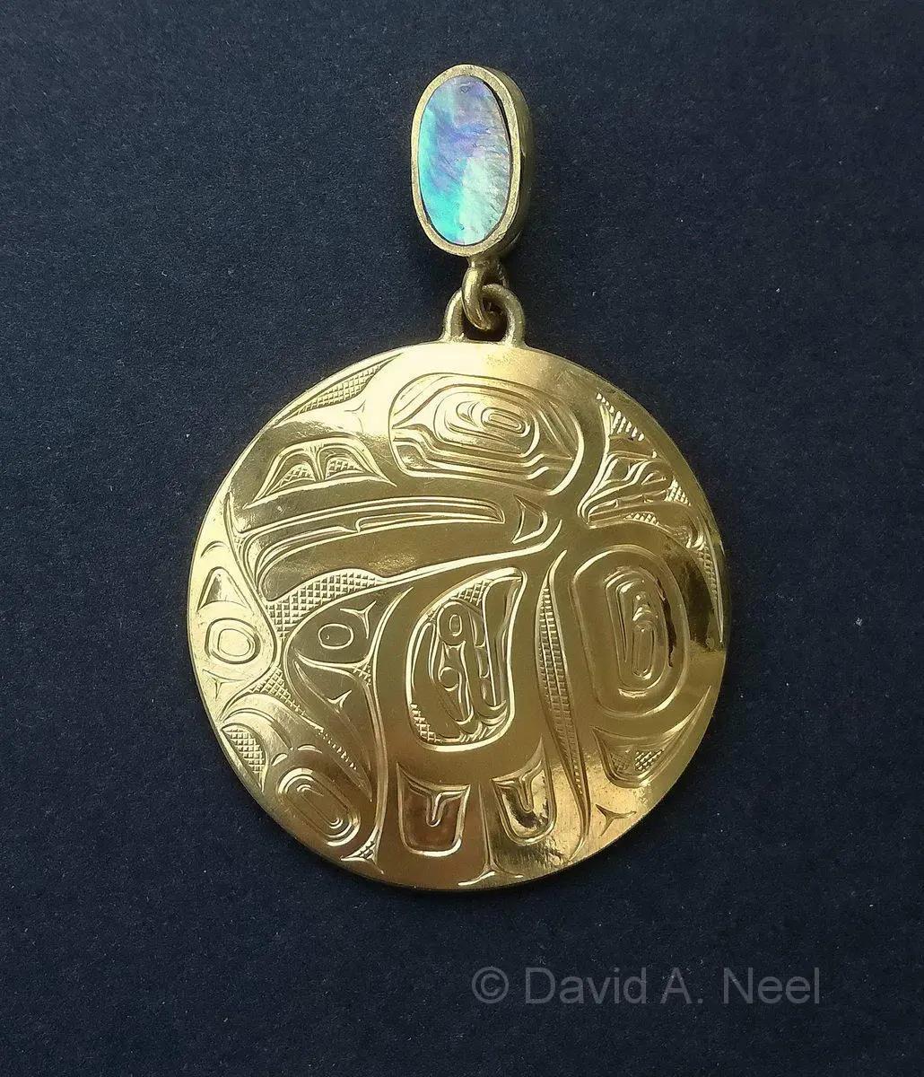 Raven 23K Gold Pendant