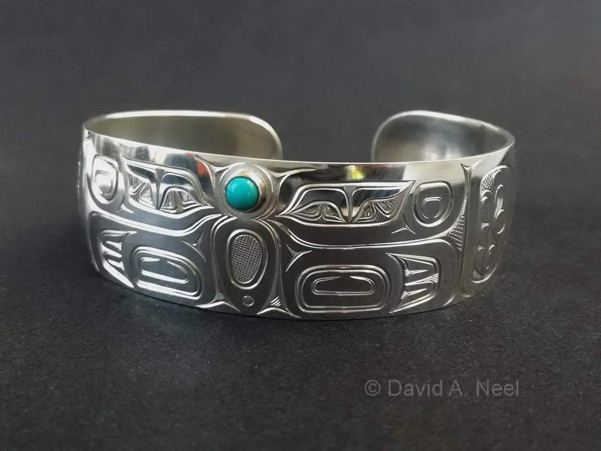 Butterfly Bracelet, Silver & Turquoise