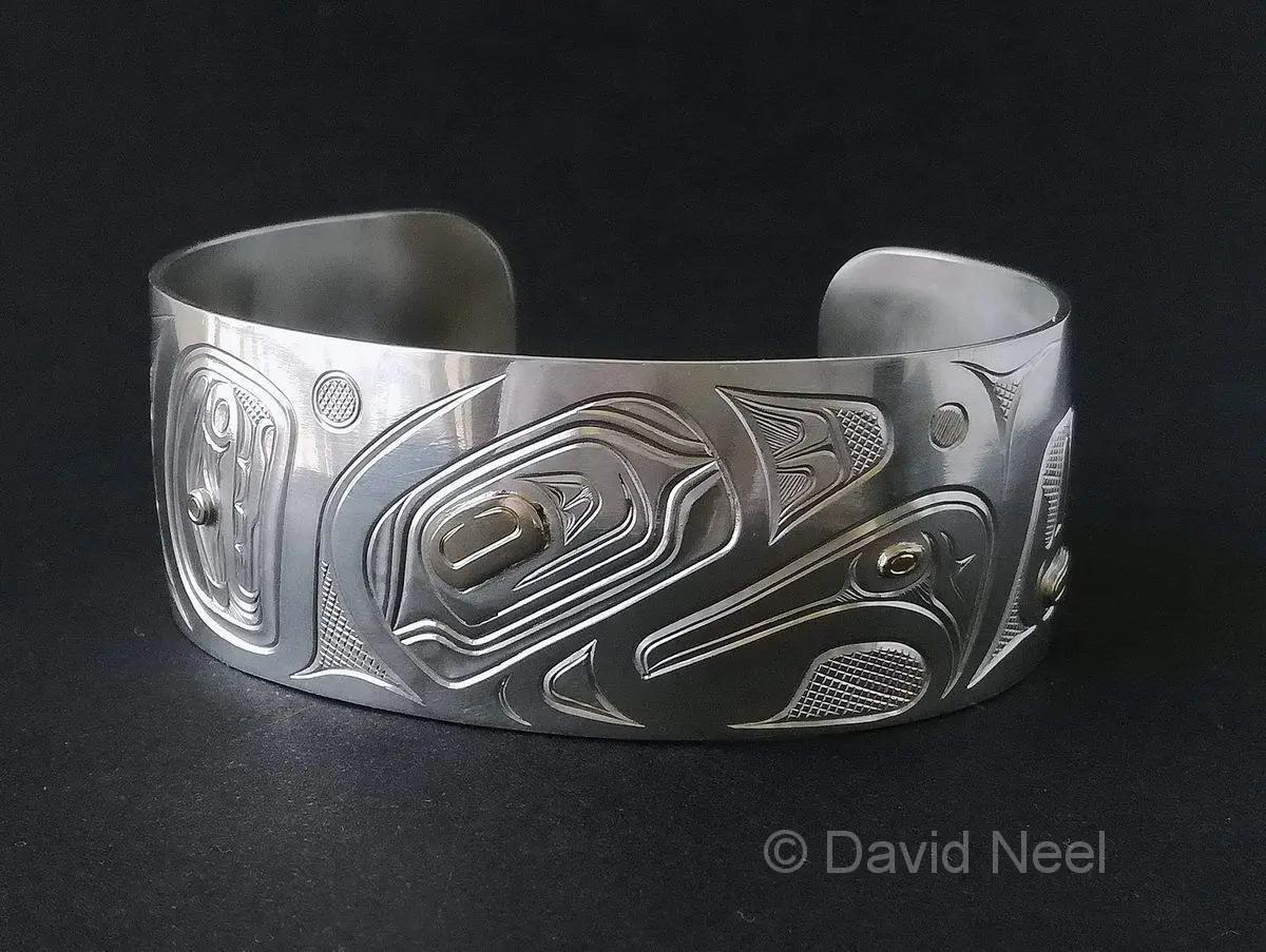 Eagle Bracelet, Silver & Gold