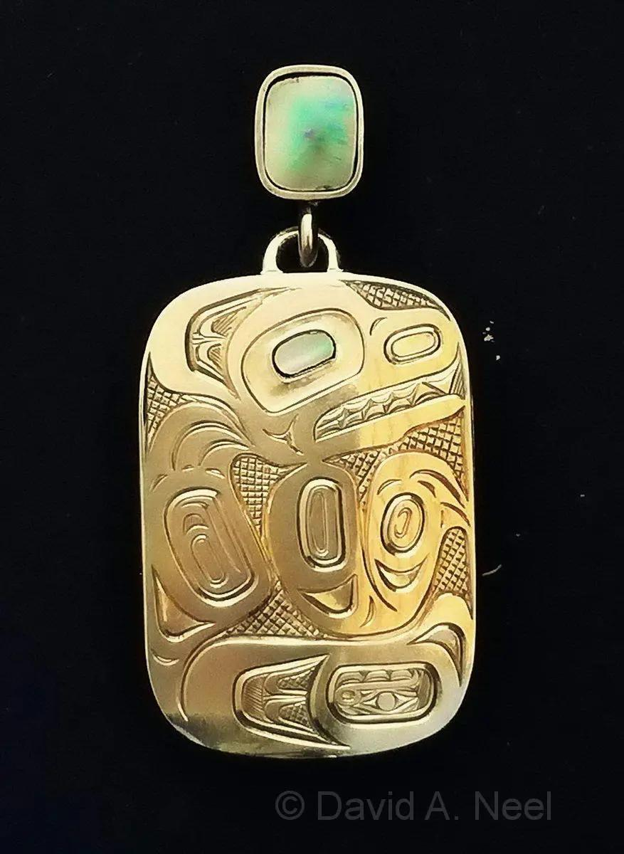 Bear Gold Pendant