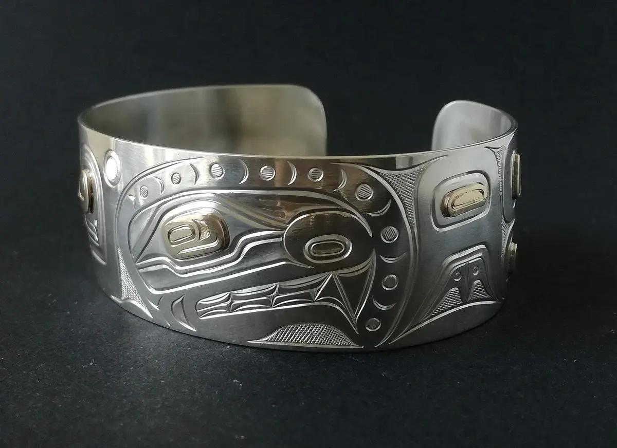 Killerwhale Silver & Gold Bracelet