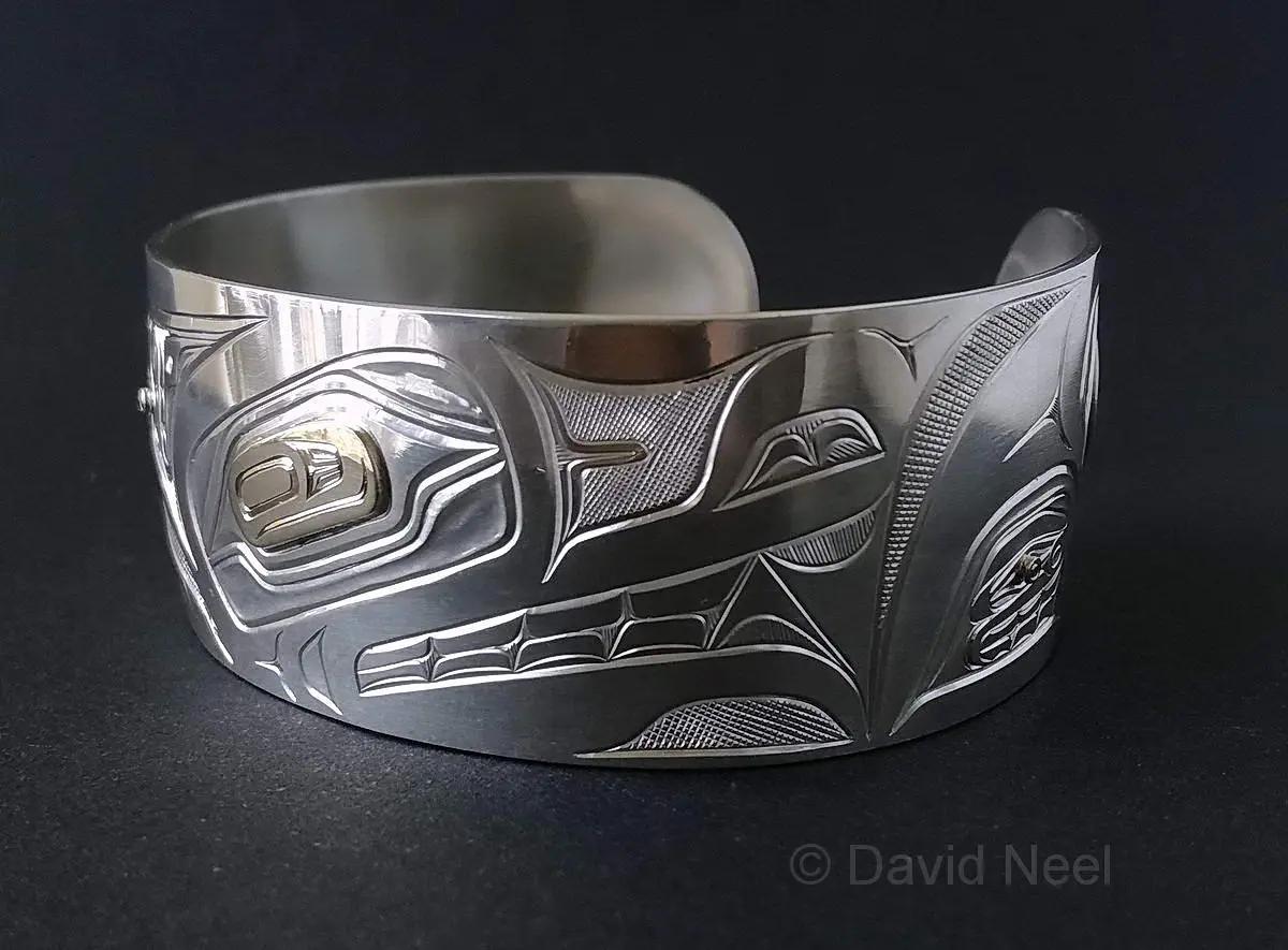 Wolf Silver & Gold Bracelet