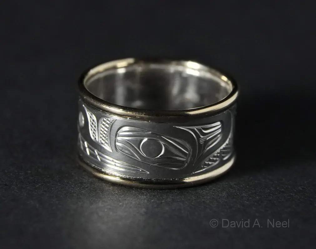 Bear Ring, Silver & Gold