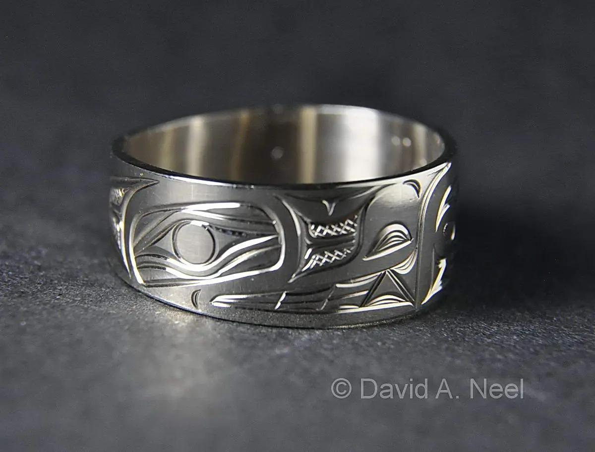 Wolf Ring, White Gold