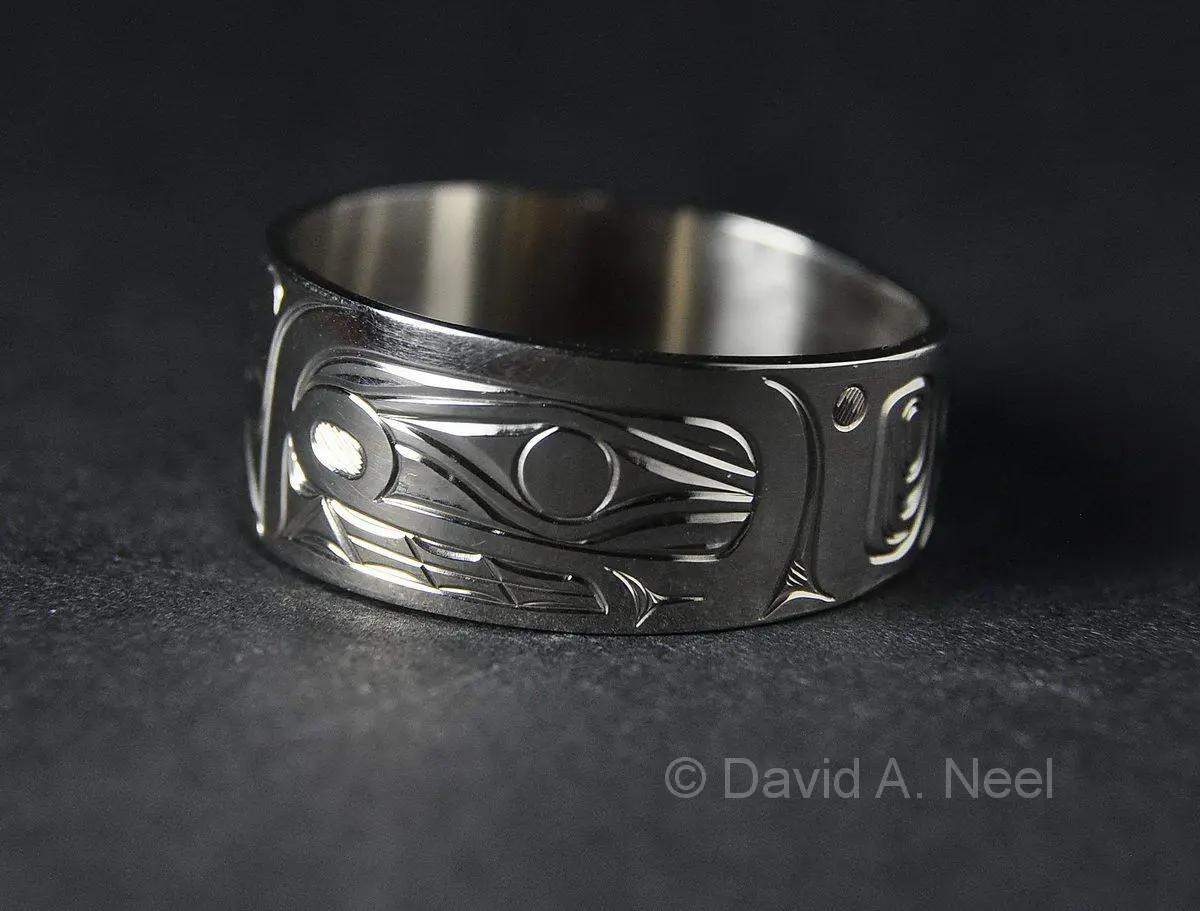 Killerwhale Ring, White Gold