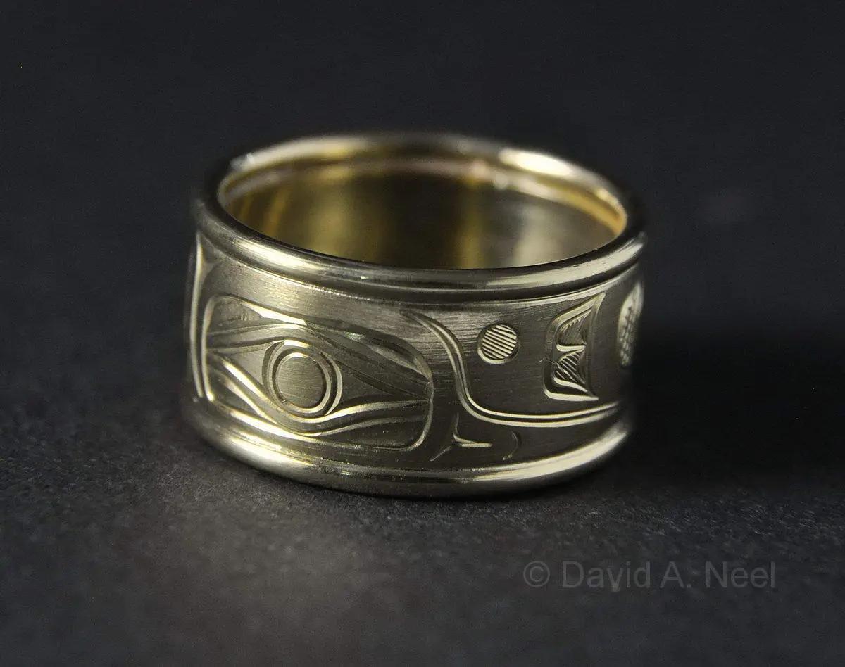 Hummingbird 18K Gold Ring