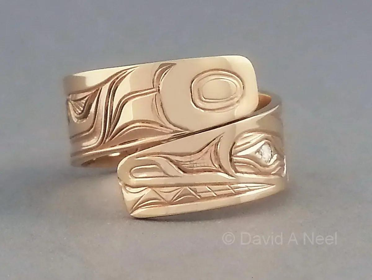 Wolf Wrap Gold Ring