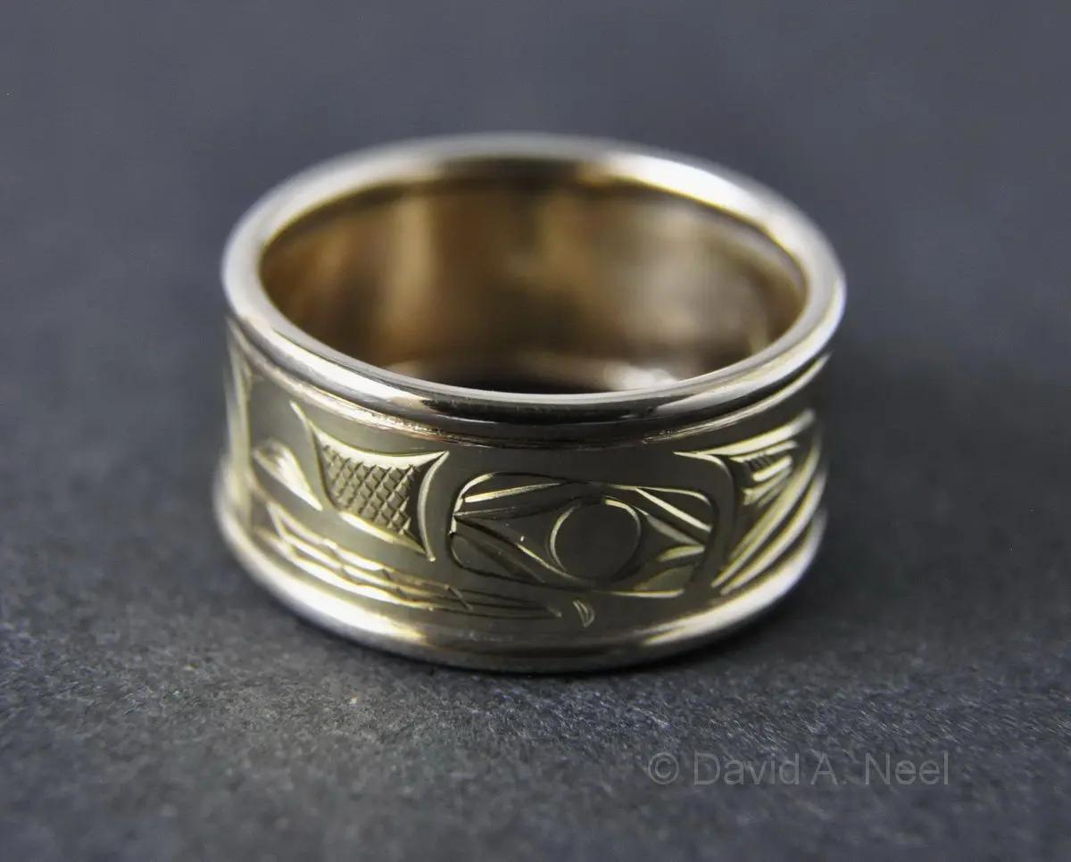 Wolf Two-tone Gold Ring