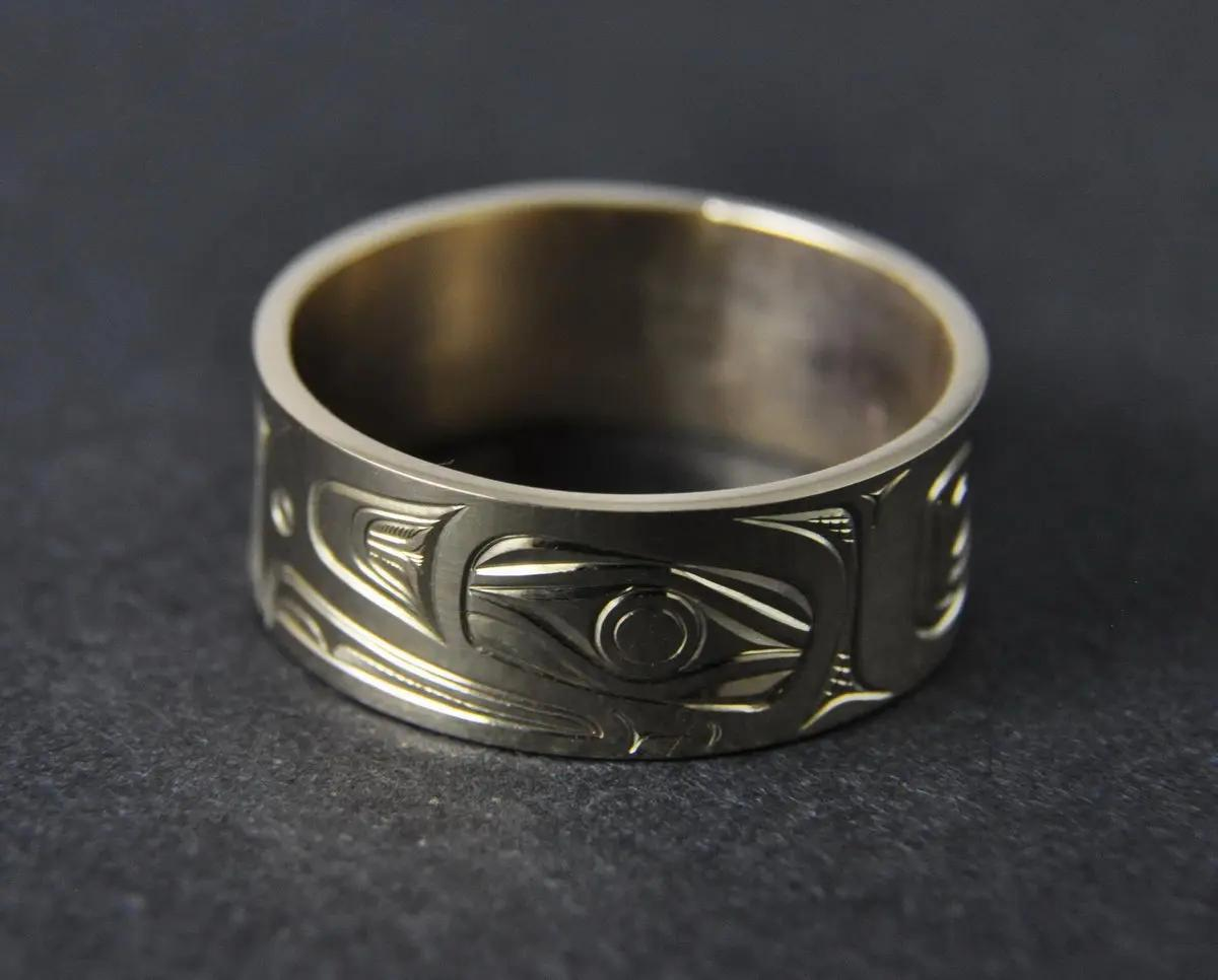 Eagle Gold Ring