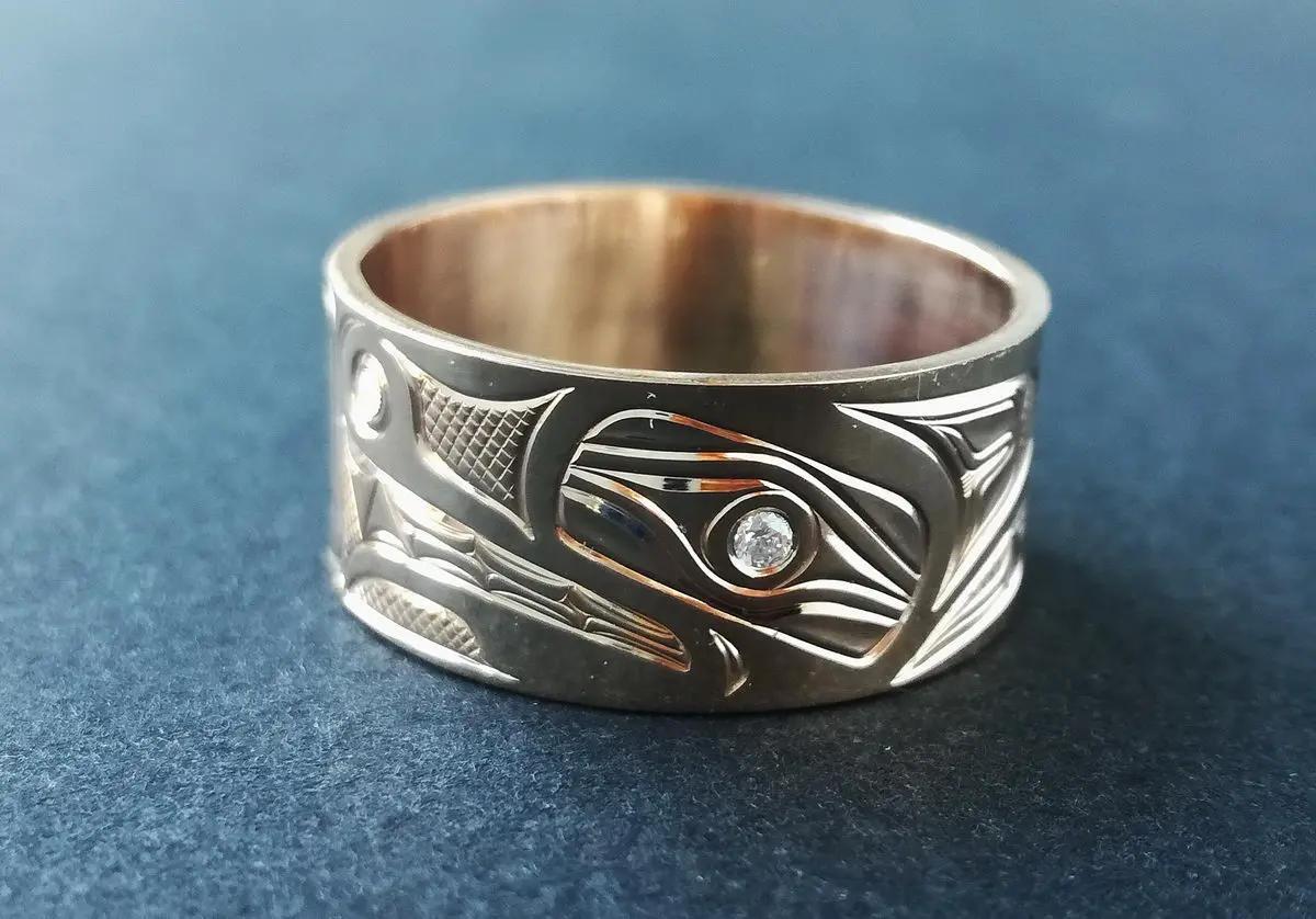 Bear Gold & Diamond Ring