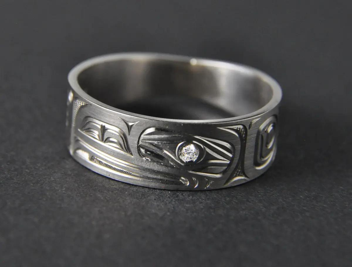 Raven Platinum Ring