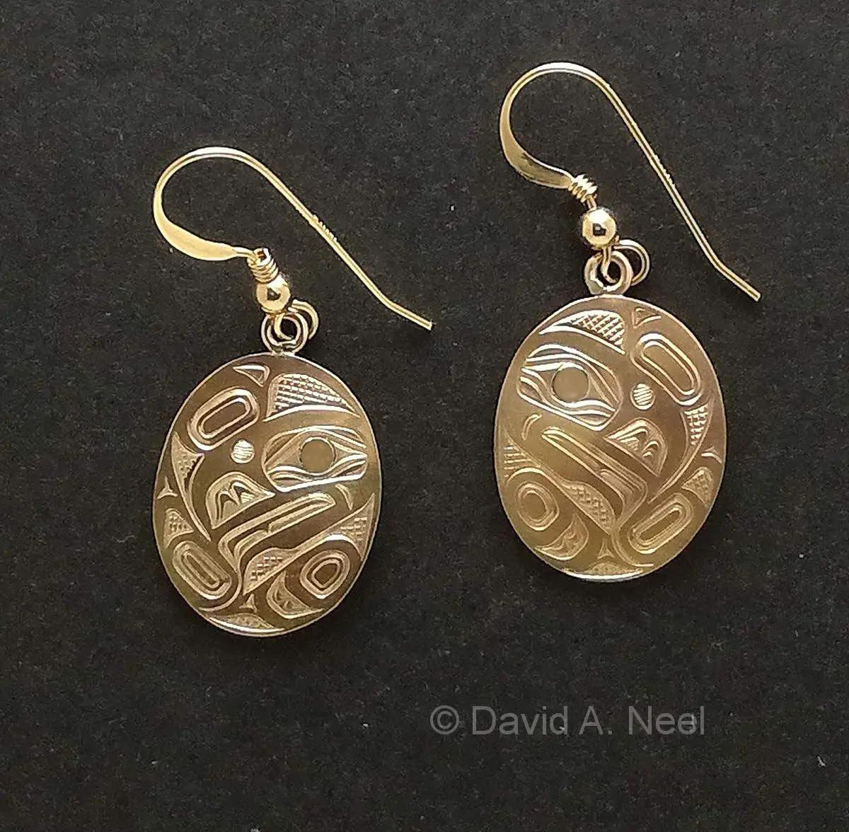 Raven Gold Earrings