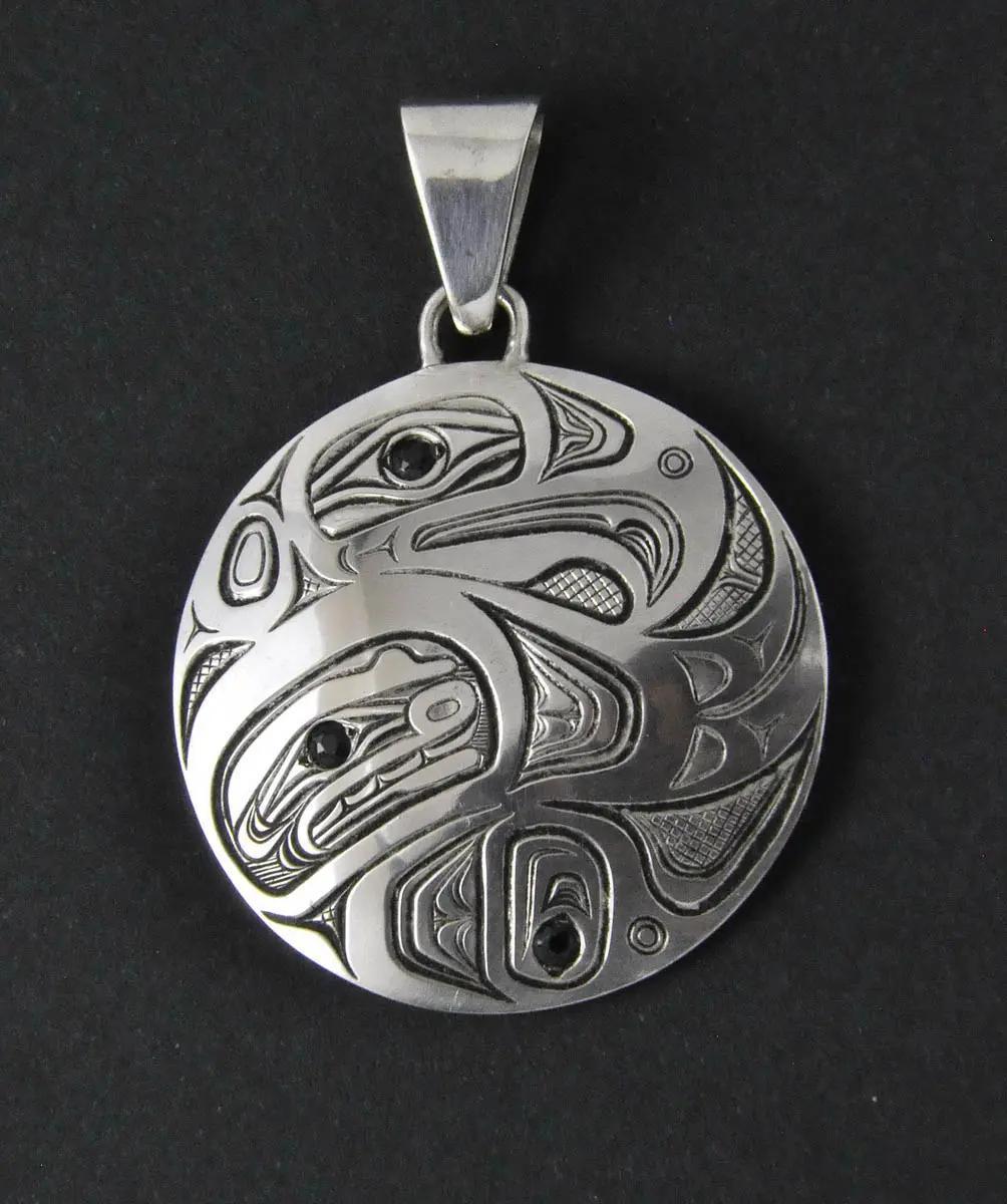 Eagle Silver & Sapphire Pendant